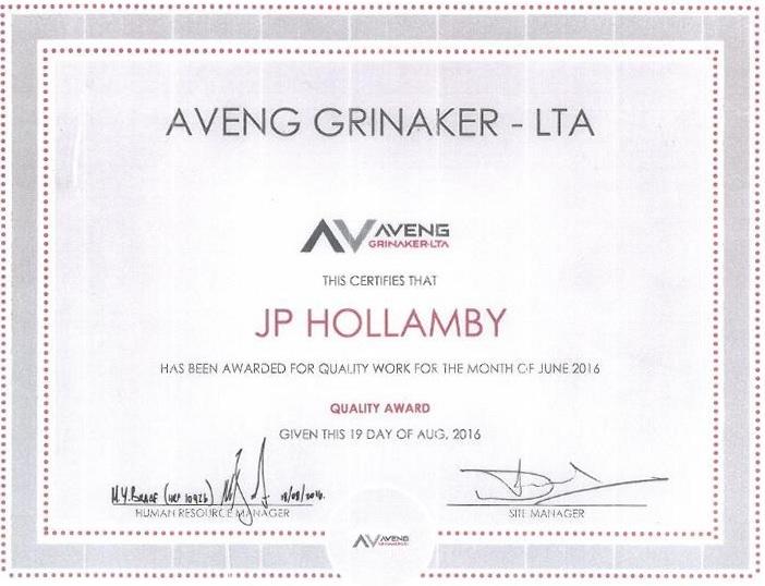Aveng-Grinaker-Certificate